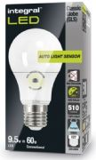 Dusk till dawn lamp |Daylight Sensor Lamp| E27 Screw LED 60W Equivalent | Cool White |INTEGRAL LED